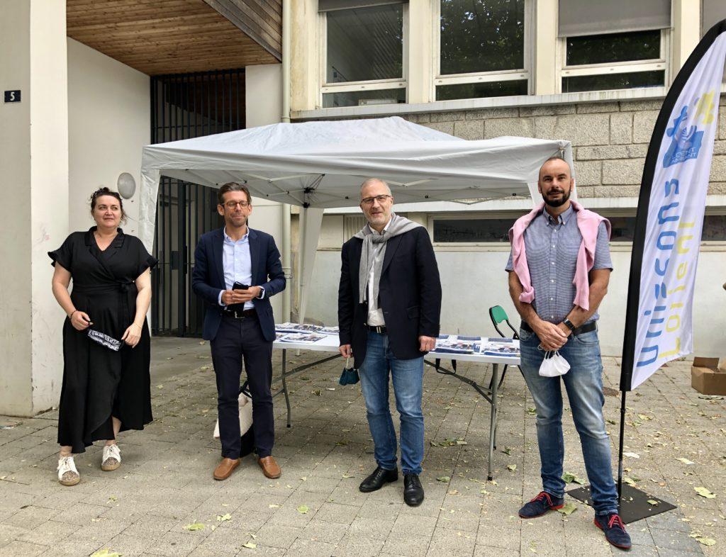 L'équipe municipale de Ploemeur pour leur présence Ronan Loas Patricia Quero Ruen, Anne Valerie Rodrigues et Jean-guillaume Gourlain avec Fabrice LOHER